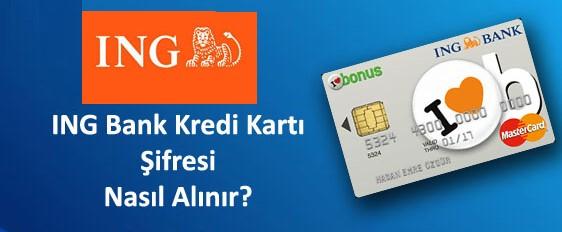 ing bank sms ile kredi kartı şifre almak