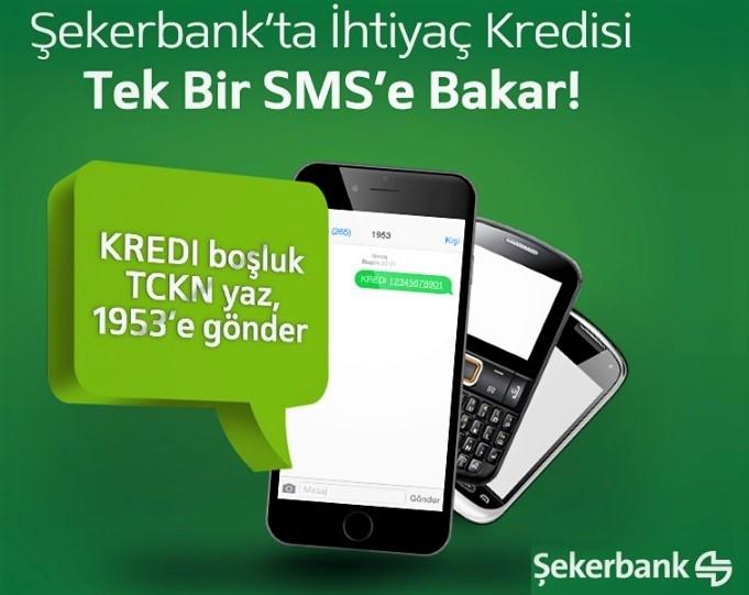 Şekerbank Sms ile Kredi kartı Başvurusu