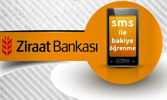 Ziraat Bankası Sms ile Bakiye sorgulama